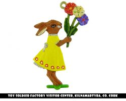 Bunny with Springflowers