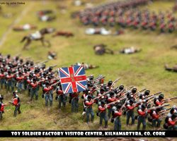 British troops in a square formation.