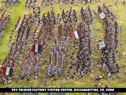 A large column formation of French soldiers