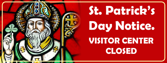 St Patrick's Day Closed Notice.