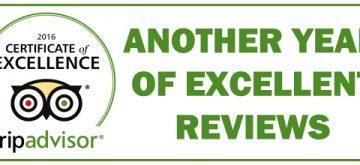 Tripadvisor Excellence Award 2016
