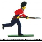 Flat soldier charging